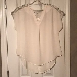 Ivory High-Low Blouse